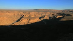 Fish River Canyon wide shot,Namibia.Time lapse Stock Footage