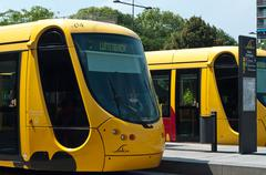 Stock Photo of mulhouse - france - 24 th july 2014 - tramway in mulhouse - alsace france