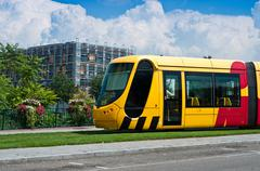 Mulhouse - france - 24 th july 2014 - tramway in mulhouse - alsace france Stock Photos