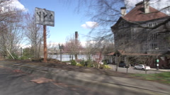 Portland Oregon B Roll - Downtown Vehicle Shot - stock footage