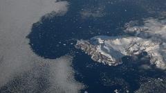 Flight over of icy ocean - Antarctic Stock Footage