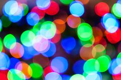 Christmas Lights Color Bokeh Stock Photos