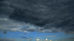 Summer. Clouds before a rain Stock Footage