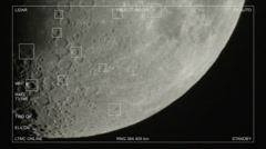 Tracking moon craters hud sci-fi 2/2 Stock Footage