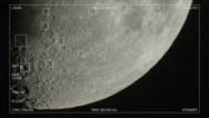 Stock Video Footage of tracking moon craters hud sci-fi 2/2
