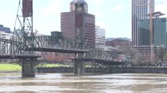 Portland Oregon B Roll - Ferry and Hawthorne Bridge Stock Footage