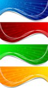 Vector set of banners - stock illustration