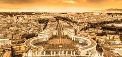 Saint Peter's Square in Vatican, Rome, Italy. Stock Photos