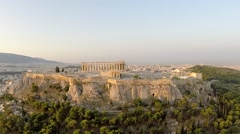 Stock Video Footage of Acropolis Parthenon Aerial footage