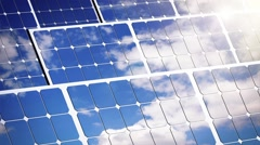 Solar energy farm Stock Footage