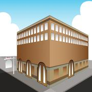 sold public office building - stock illustration