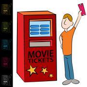 Movie ticket kiosk machine Stock Illustration