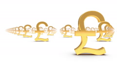 Endless Pound Symbols front view loop Stock Footage