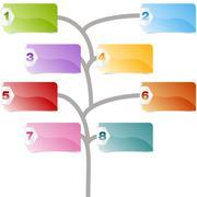 option tree - stock illustration