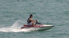 Jet Ski slow motion - stock footage