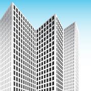 Tall skyscraper Stock Illustration