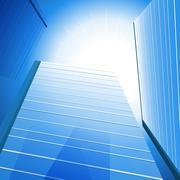highrise sunshine background - stock illustration