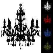 Elegant chandelier Stock Illustration