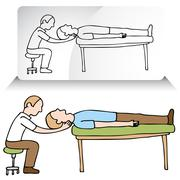 chiropractor neck adjustment - stock illustration