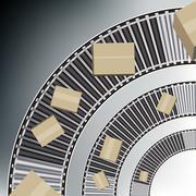 arc conveyor belt boxes - stock illustration