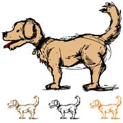 dog sketch - stock illustration