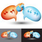 Chat bubble handshake Stock Illustration