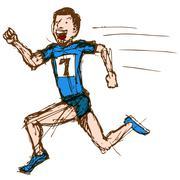 runner sketch - stock illustration