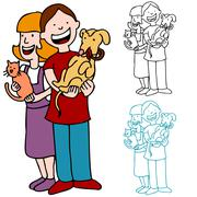 pet adoption - stock illustration