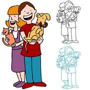Pet adoption Stock Illustration
