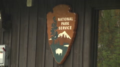Stock Video Footage of park ranger station national park service sign