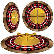 Stock Illustration of roulette wheel set