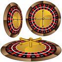 Stock Illustration of roulette wheel set