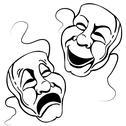 Stock Illustration of roman theater mask set