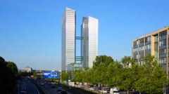 Highlight towers in munich Stock Footage