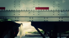 Passing a Semi Truck on the Highway - stock footage