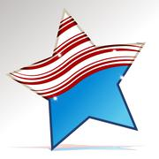 Stock Illustration of patriotic star