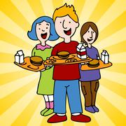 School lunch program Stock Illustration