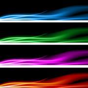 plasma energy banner set - stock illustration