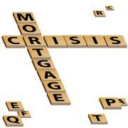 mortgage crisis crossword puzzle - stock illustration