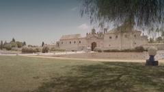 Forward aerial shot of La Cartuja Monastery. Seville, Spain. Stock Footage