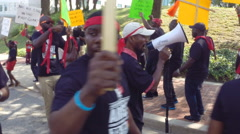 Africans protesting against government corruption Stock Footage