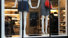 Store display window shopping - stock footage