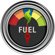 green fuel gauge - stock illustration