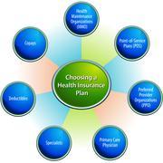 Choosing a health insurance plan chart Stock Illustration