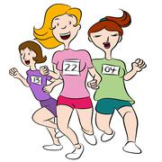 Women running event Stock Illustration