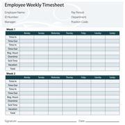 employee timesheet template - stock illustration