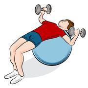 man exercising - stock illustration