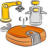 Manufacturing robots Piirros