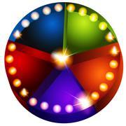theatrical lights pie chart - stock illustration