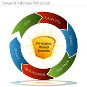 power of attorney protection - stock illustration
